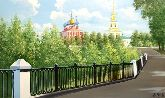 "Картина на холсте ""Дорога к Рязанскому Кремлю"""