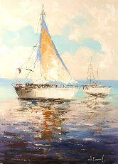 "Картина на холсте ""В открытом море"""