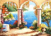 """Картина на холсте """"Средиземноморский уголок"""""""