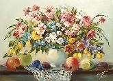 """Картина на холсте """"Цветы и фрукты"""""""