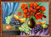 Маки и виноград