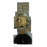 Медаль-капля на каменной подставке