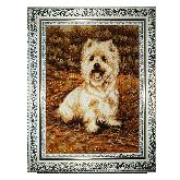 Милая собака картина из янтаря