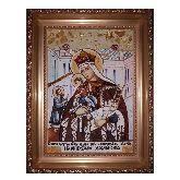 Молченская икона Божией Матери из янтаря