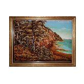 Морской пейзаж на картине из янтаря