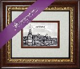 Москва. Видна Кремль, рамка художественный багет, 365х315