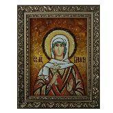 Мученица Кириена Тарсийская икона из янтаря