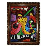 Музыкальные инструменты абстракция из янтаря