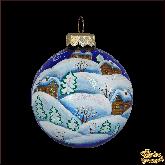 Набор ёлочных шаров ручной работы Зимняя деревня.