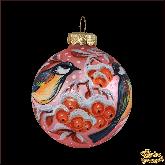 Набор ёлочных шаров ручной работы Птицы.