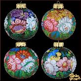 Набор ёлочных шаров ручной работы Жостово.