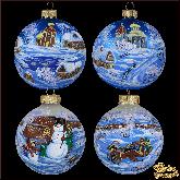 Набор ёлочных шаров ручной работы Зимние гуляния.