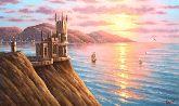 """Картина на холсте """"Крым. Ласточкино гнездо"""""""