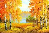 """Картина на холсте """"Осенние березки"""""""