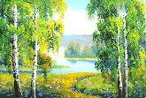 """Картина на холсте """"Тропинка к реке"""""""