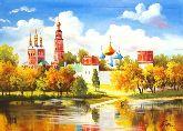 """Картина на холсте """"Новодевичий монастырь"""""""