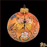 Набор ёлочных шаров ручной работы (4 на 80) Бабочки.