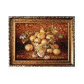 Натюрморт с фруктами - чудесная картина из янтаря