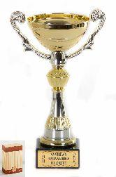 Кубок подарочный Чаша золотая с серебр.рельефными ручками Лучшему начальнику на свете
