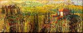 Полевые дома, картина, Модерн пейзаж №2