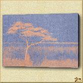 Дерево на поле, картина, Модерн пейзаж №4