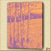 Березовая опушка, картина, Модерн пейзаж №6