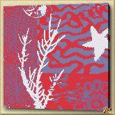 Коралл, картина, Модерн пейзаж №7