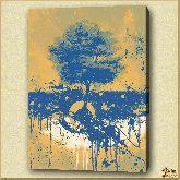 Дерево с подковой, картина, Модерн пейзаж №8