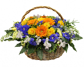 """Корзина с цветами """"Небесный Звездопад"""""""
