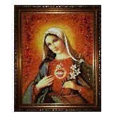 Непорочное Сердце Пресвятой Девы Марии из янтаря