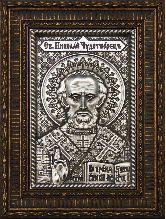 Икона Николай Чудотворец, рамка резная, 85х130