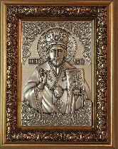 Икона Николай Чудотворец, рамка модерн, 100х150