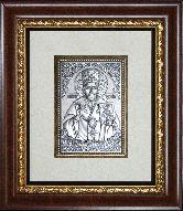 Икона Николай Чудотворец, рамка художественный багет, 100х150