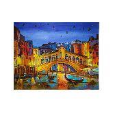 Ночная Венеция из янтаря