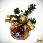 Букет из конфет Новогодний шарик №1