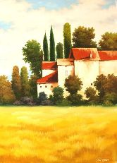 "Картина на холсте ""Французское поместье"""