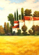 "Картина на холсте ""Вид на замок"""