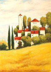 """Картина на холсте """"Замок во Франции"""""""
