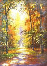 "Картина на холсте ""Наедине с осенью"""
