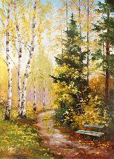 """Картина на холсте """"Осенняя тишина"""""""