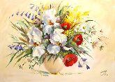 "Картина на холсте ""Нежные цветы"""