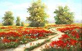 """Картина на холсте """"Маки в поле"""""""