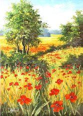"Картина на холсте ""На маковом поле"""