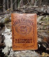 Обложка на паспорт *Jack Daniels*
