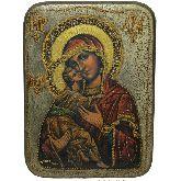 Образ Божьей Матери Владимирская, Аналойная икона, 21 Х29
