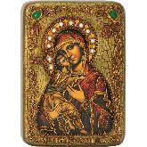 Образ Божьей Матери Владимирская, Подарочная икона, 15 Х20