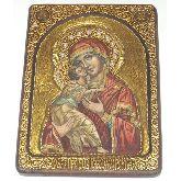 Образ Божьей Матери Владимирская, Живописная икона, 21 Х29