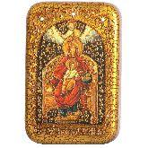 Образ Божией Матери Державная, Настольная икона, 10Х15