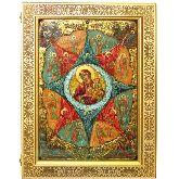 Образ Божией матери Неопалимая купина, Живописная икона, 29 Х42