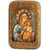 Образ Божией Матери Неувядаемый Цвет, Настольная икона, 10 Х15